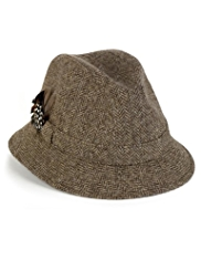 Pure Wool Herringbone Shire Hat