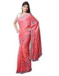 Aarti Saree With Blouse Piece Crepe Saree With Blouse Piece (Ase7341 -Pink)