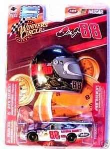 2009 Dale Earnhardt Jr #88 National Guard Blue & White Impala SS 1/64 Scale & Mini Profile Helmet Magnet Edition Winners Circle - 1
