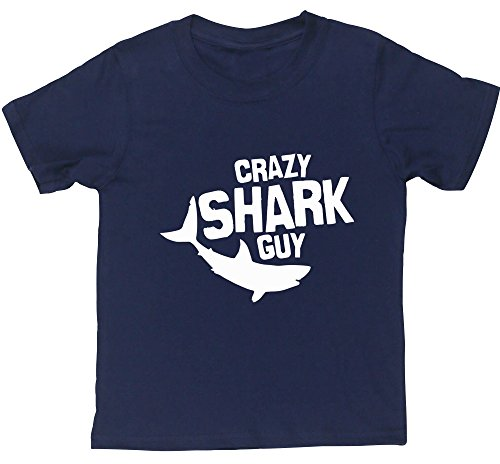 hippowarehouse-crazy-shark-guy-kids-short-sleeve-t-shirt