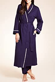 Per Una Pure cotton Plain Wrap Dressing Gown [T37-6269-S]