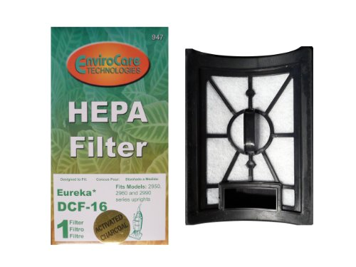 (2) Eureka Style DCF 16, Hepa W/activated Charcoal Filter Dust Cup Vacuum Cleaner, Altima Bagless, SurfaceMax, Uno Upright, 62736A, 20232462, 20-2324-62, 76552, E-62736 (Eureka Uno Hepa Filter compare prices)