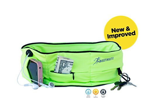 Running-Belt-Top-Quality-Workout-Fitness-Waist-Fanny-Pack-to-Hold-Your-Phone-Keys-Money-Men-Women-FREE-Running-Tips-E-Book-Perfect-Fit-Spandex-Water-Resistant-Zipper-Pouch-for-Travel-and-Exercise-Secu
