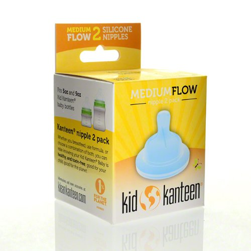 Klean Kanteen Kid Kanteen Medium Flow Silicone Nipples (Pack of 2) - 1