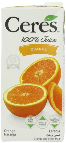 Ceres Orange 100 Percent Fruit Juice 1 L (Pack of 12)