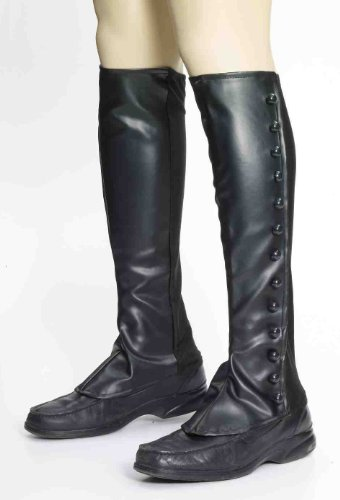 Forum Steampunk Victorian Costume Goth Cosplay Tall Boot Cover Spats