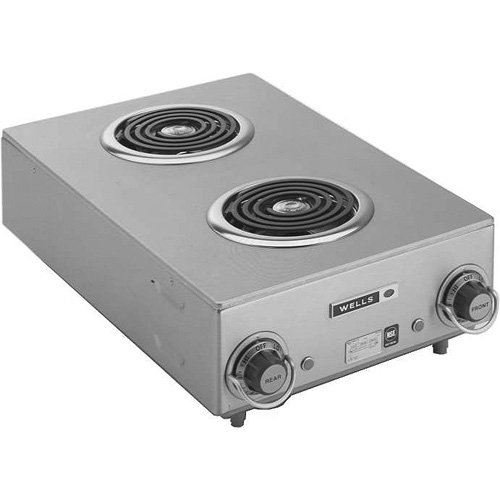 Wells H-115 Countertop Two Burner Electric Hot Plate