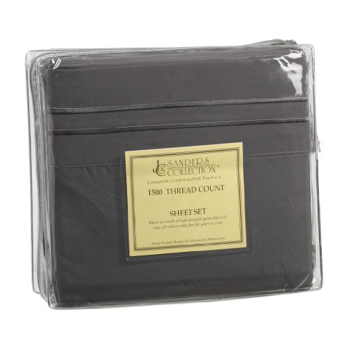 1500 Series Split King Microfiber Bed Sheet Set Grey front-765311
