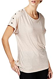 Striped T-Shirt with Linen [T50-9090-S]