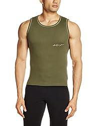 Lakomfort Men's Cotton Vest (Beric _Medium_Olive)