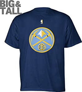 NBA Majestic Denver Nuggets Primary Logo Big Sizes T-shirt - Navy Blue by Majestic