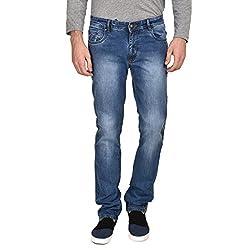 Ruace men's Regular fit light blue jeans