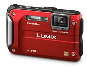 Panasonic Lumix DMC-TS3 12.1 MP Rugged/Waterproof Digital Camera with 4.6x Wide Angle Optical Image Stabilized Zoom and 2.7-Inch LCD - Red