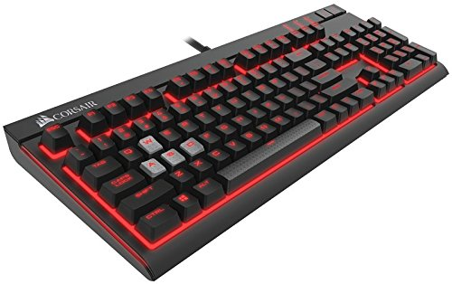 Corsair Gaming STRAFE Cherry MX Red, Tastiera Meccanica Gaming con Layout Italiano, Tasti Cherry MX Red e Retroilluminazione a LED Rossi Programmabile per Singolo Tasto, Nero