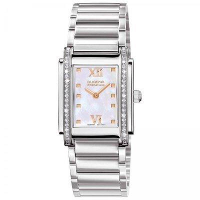 Dugena Premium 7590259 - Reloj para mujeres, correa de acero inoxidable color plateado
