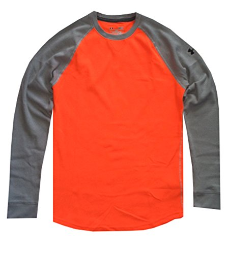 Under Armour Men UA Thermal 2.0 Crew Shirt (S, Blaze Orange/Grey) (Blouse Thermal compare prices)