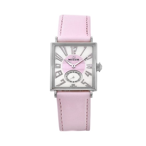 Milus Women's AURQ003 Aurigios Pink Leather Pink Dial Watch