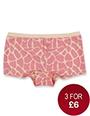 Pure Cotton Giraffe Print Boxers