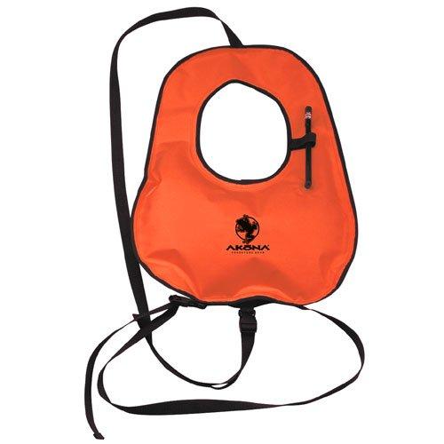 Akona Adult Snorkel Vest, Neon Orange (AKSV109)