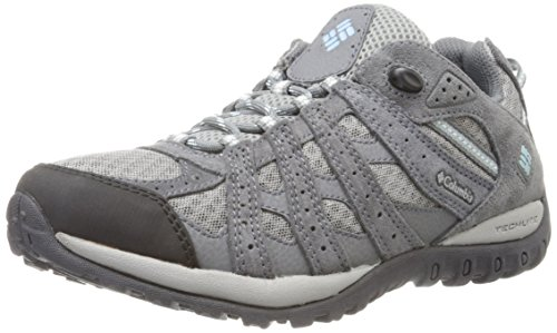 Columbia Women's Redmond Trail Shoe, Boulder/Sky Blue, 7.5 M US