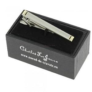 Clj Charles Le Jeune - pince à cravate couleur argent_800114
