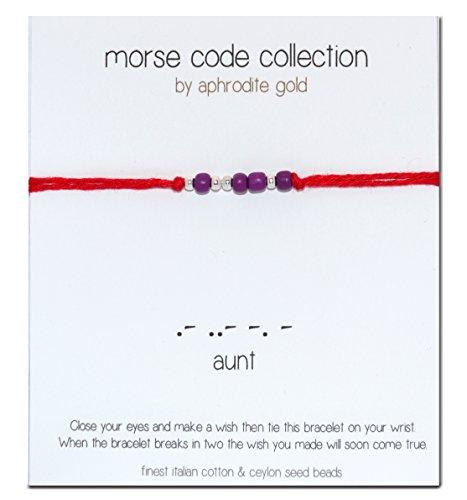 aunt-morse-code-red-bracciale-braccialetto-in-corda