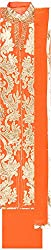 Classic Women's Cotton Unstitched Dress Material (Orange)