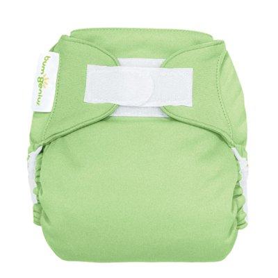 Freetime (Velcro) Aio Diaper With Stay Dry Liner - Grasshopper front-730145