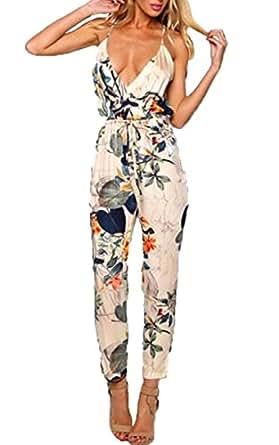 zeagoo overall damen elegant hose sommer festlich jumpsuit romper bekleidung. Black Bedroom Furniture Sets. Home Design Ideas