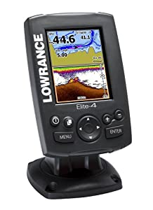 Lowrance Elite-4 Gold Combo Fishfinder with Transom Mount Transducer by Lowrance