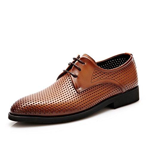 Affari di aria in estate sandali/Vera pelle traforata nere scarpe cool/pattini di vestito cava-B Lunghezza piede=26.3CM(10.4Inch)