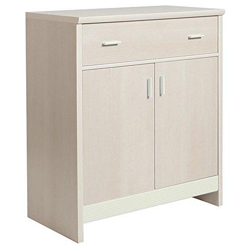 Furniture to Go Fanfair 1 tiroir et 2 portes en mélamine, 86 x 97 x 45 cm-Crème