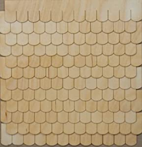 Miniature fishscale shingle strips for your for Fish scale shingles