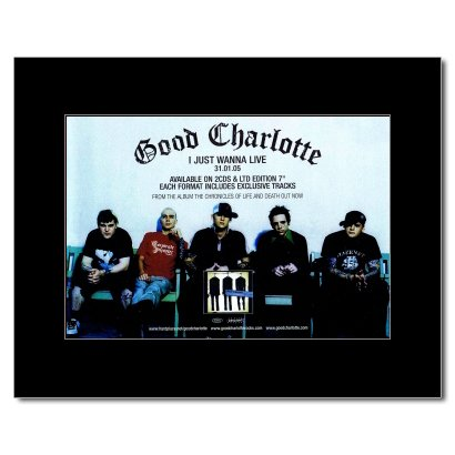 GOOD CHARLOTTE - I Just Wanna Live Matted Mini Poster - 21x13.5cm (Good Charlotte Poster compare prices)
