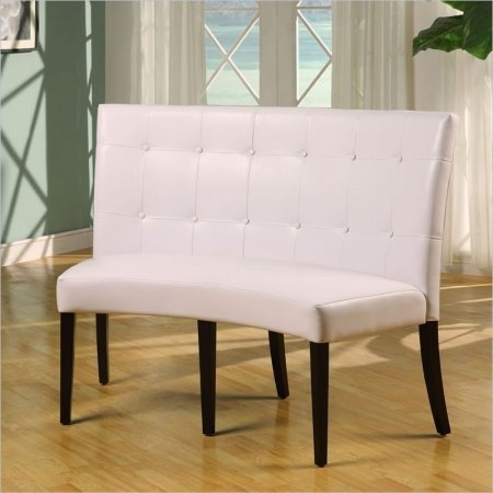 dining height leatherette banquette check price