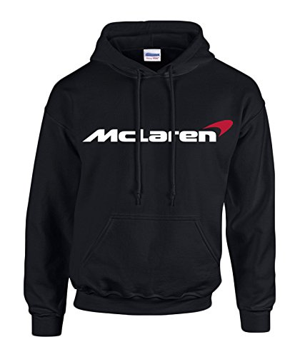 mclaren-white-red-logo-on-black-hooded-sweater-sweatshirt-hoodie-size-small