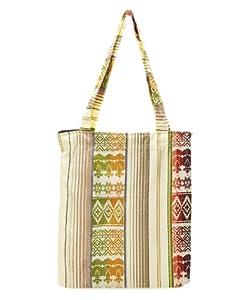 Live Worldly, Live Brazilian Ipanema Bag in White Multi