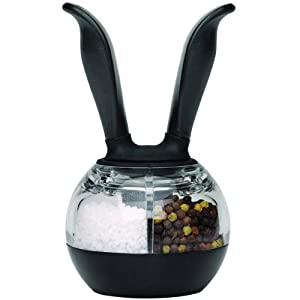 Chef'n Dual PepperBall, Black and Clear