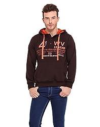 Western Vivid Brown Coloured Fleece Sweat Shirt Large