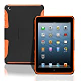 iPad Mini Lightweight Hard Shell Case with Built in Stand. Dual Layer Shock Absorbing Case Designed for the New iPad mini / iPad mini Retina / iPad mini 2. Orange