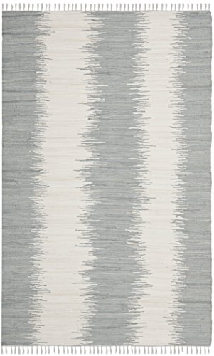 Safavieh Montauk Collection MTK751K Hand Woven Grey Cotton Area Rug, 2 feet 6 inches by 4 feet (2'6