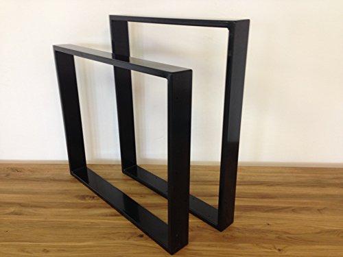 Tischgestell-Stahl-TR80s-600mm-breit-Tischuntergestell-Tischkufe-Kufengestell