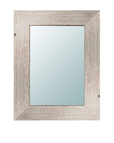 PTM Images Reclaimed Wood Mirror, White