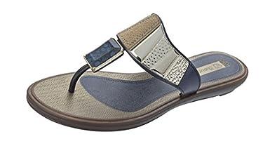 Grendha Allure Thong femmes Flip Flops / Sandals - bleu Snake - SIZE EU 37