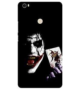 Chiraiyaa Designer Printed Premium Back Cover Case for Xiaomi Mi Max (Joker cards smile) (Multicolor)