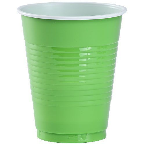 Party Dimensions 80562 16 Count Plastic Cup, 18-Ounce, Lime Green