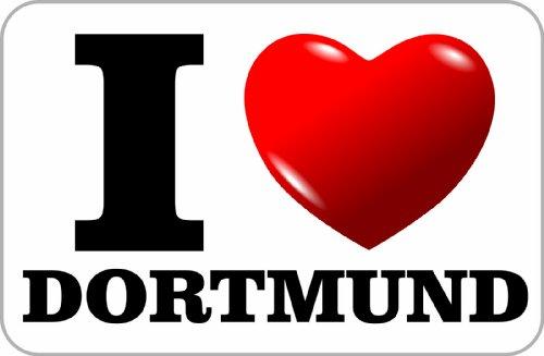 Aufkleber / Sticker / I Love Dortmund (ich liebe Dortmund) 75 x 115 mm selbstklebend
