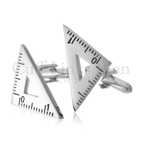 Triangular Ruler Cufflinks-CL-0061