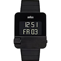 Braun BN0106BKBTG - Reloj digital de cuarzo para hombre con correa de acero inoxidable, color negro