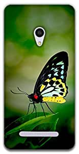 The Racoon Lean butterfly hard plastic printed back case / cover for Asus Zenfone 5